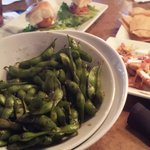 selections on happy hour menu. Ample portions of spicy pea pods