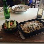 Mains: risotto and pasta bake