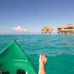 snorkling around the island