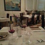 Noch waren wir alleine, aber später war das Restaurant gut besucht.
