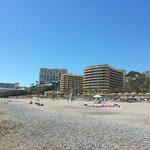 The hotel, as seen from the beach