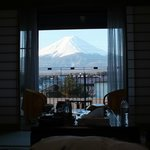 Fuji view from the room.