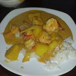 King prawn yellow curry- amazing!