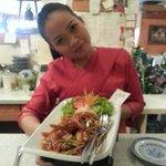 lecker............. Gung pad prig pao gebratene Garnelen mit thaiginseng thaibasilikum chili zw