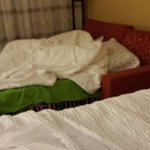 If you have kids and book through priceline wanting two beds this is what you usually get.