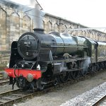 The locomotive Scots Guardsman at Carlisle on the train