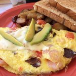 CA omelet with shrimp