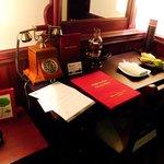 desk inside the room