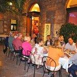 Ristorante La Rosetta. Courtyard dining