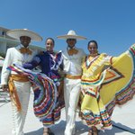 Dancers promoting Mexican night