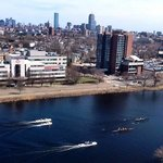 the Charles River, from the 16th floor room balcony.