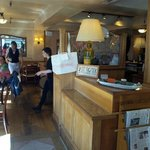 Inside cafe champagne - view from entrance door