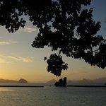 Sunset at Lagen Island Resort