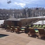 Viceroy pool and cabanas slopeside