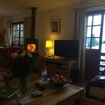 Log burner and the lounge