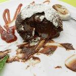 tortino morbido dal cuore di cioccolato bio