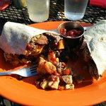 Gabriella burrito is a healthier option!