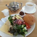 Gluten free ploughmans at the cafe.