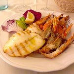 Grilled Calamari, Scampi e Gamberoni
