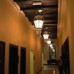 Hallway. Prayer rooms on the left