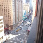 View from hotel room towards Time Square