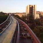 Un tratto dei binari del Minimetrò di Perugia