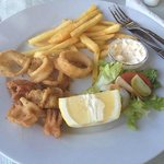 Calamari at the green frog