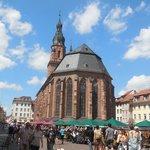 Vista mercado y la catedral