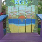 The Florida Key Visitor Center- Large painted chair