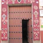 Easter doorway decoration Oaxaca