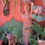 Garden at Jacobo and Maria Alebrijes workshop