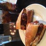 Meatball Parmesan sandwich