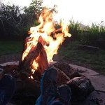 relaxing at the fire pit.