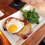 "Griddled Ham & Cheese. The best !""Gruyere cheese, prosciutto de parma, white truffle butter, fa"