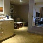 Living room in Melrose Suite