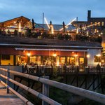 Perched right on the CT River with tons of outdoor seating