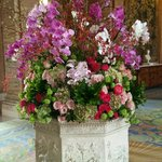 lobby flower presentation - competition for George V Paris