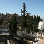 Sumeria Room - view from room balcony, Alhambra at left side