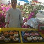 Donut with passionfruit glaze....mmmmm