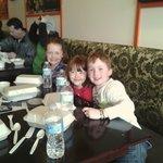 Kids enjoying lunch