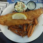 Fish & Chips with Coleslaw.  Delicious!