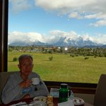 View of the Horns (Cuernos) from dinning room