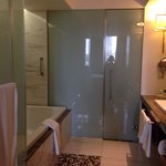 Luxury open plan bathroom ! Could do with a nightlight!