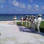 Mariachi Band entertains at Beach Wedding