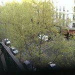 The view from the 5th floor. I kept my window open each night to let the sounds of Paris in. The