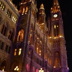 Rathaus at night