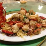 Lobster noodles were very tasty!