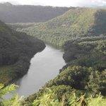 Scenic Wailua River across from Opaekaa Falls
