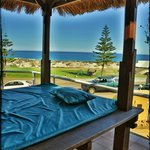 view from balinese day bed