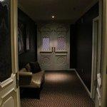 Entry hallway, second set of interior doors.